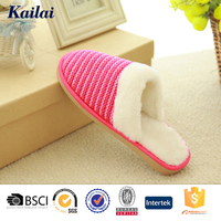 fashion cashmere rubber customized women slippers