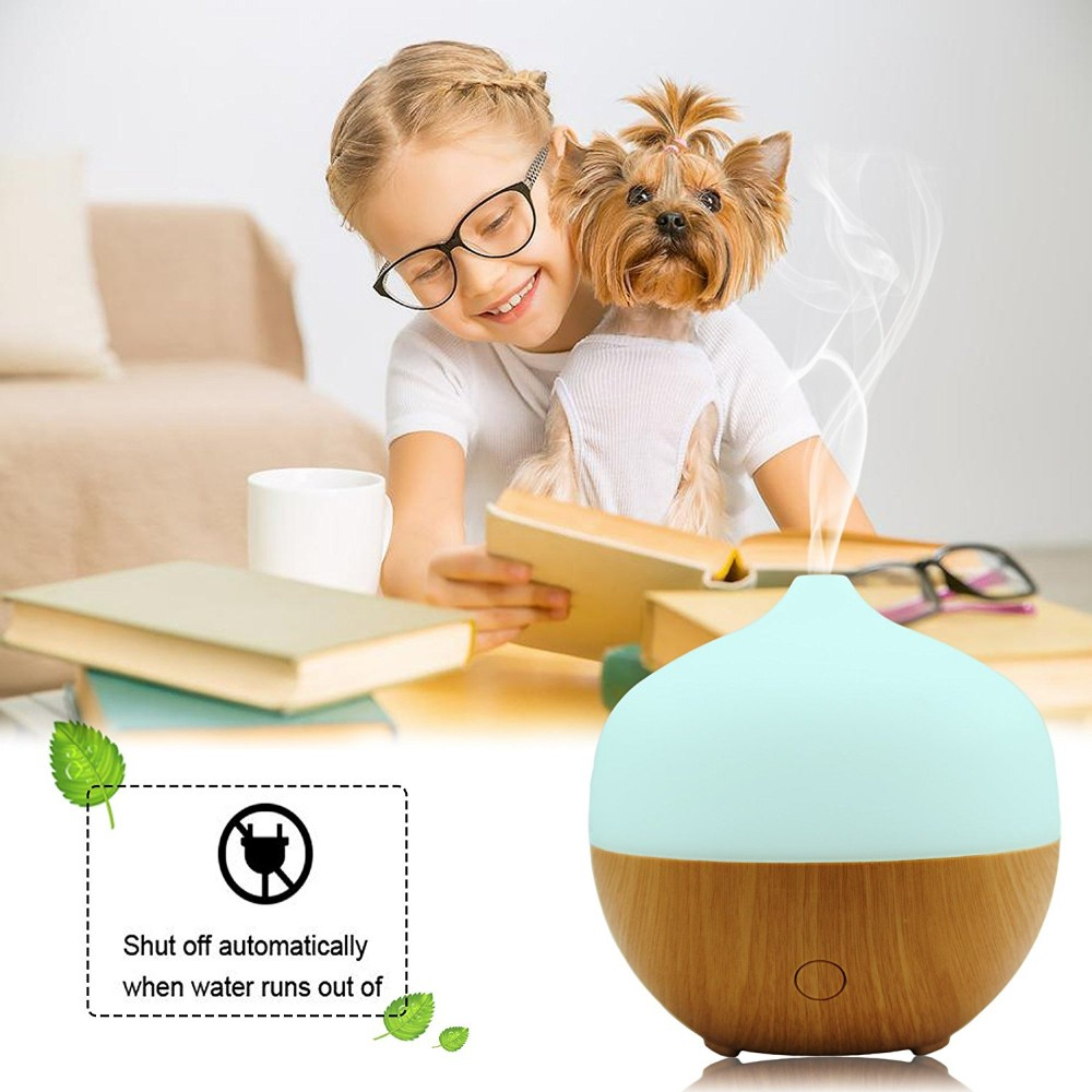 Alibaba Best Sellers 100ml 3 Time-Setting Waterdrop Essential Oil Diffuser With 7 LED Changing Colors Light