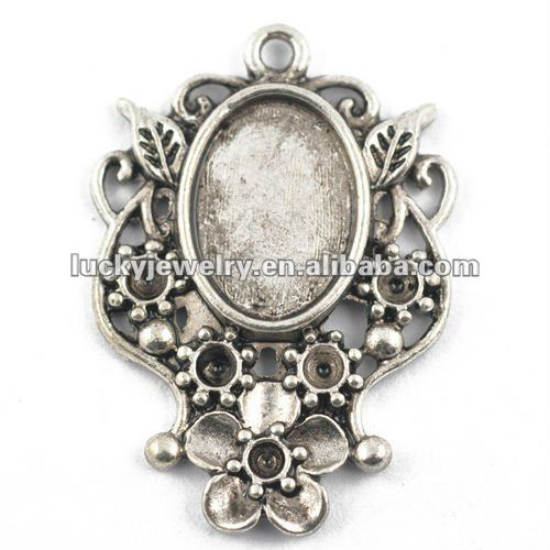 Wholesale Beautiful Antique Silver Color Jewelry Alloy Earring and Pendant Set