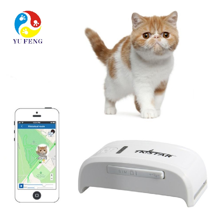 Popular Mini Pet Tracker With Collar GSM/GPRS Positioning Real Time mini GPS Tracker Dog Pet