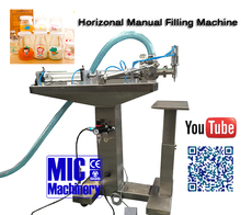 Powerful Driving Micmachinery Single Head Semi Autometic Liquid Filling Machine Price with Material Suction Pipe