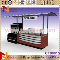 easy to move food cart street food cart food vending cart with LED lights boost you sale