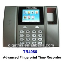 Fingerprint Time Recorder featuring RFID contactless card reading at 125KHz RFID technology