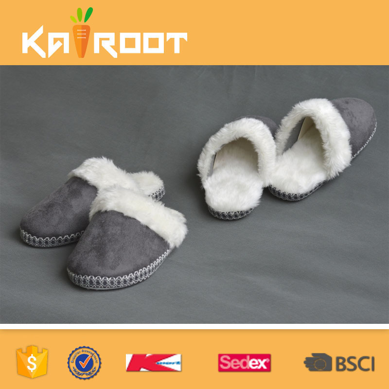 soft sole 2016 supplier pu bedroom slipper for women