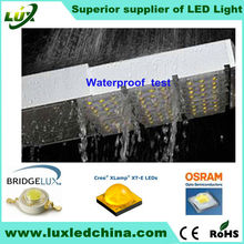 China manufacturer 2013 new Ultra-thin flat design Cree chips Meanwell 100W 120w led street light lens