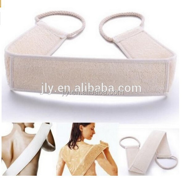 Hot Sale ! Loofah/Sisal Back Scrubber Exfoliating Sponge Bath Pad