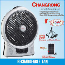 rechargeable fan wirh solar charging