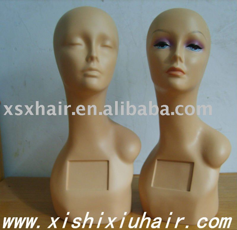 The cheap makeup used female mannequins head for sale