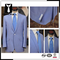 brand name high quality wool blue men suits made in china