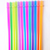 FDA foodgrade BPA free 20-23cm Reusable Plastic Drinking Straw Various colors 30 Pieces per bag For Party Wedding Mason Jar