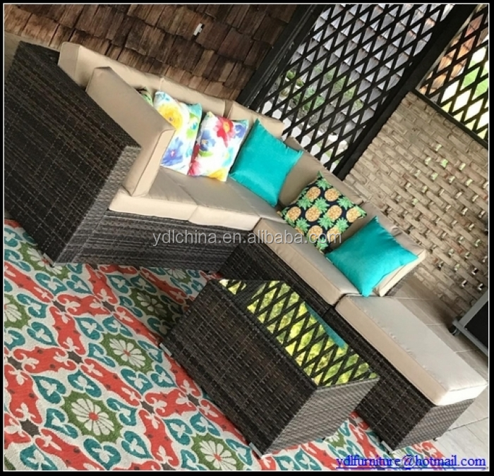 6pscs KD rattan sofa for mailorder YKD-07B