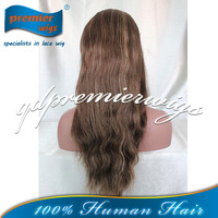 Brown color #4/#27 High light America women Stock Indian wigs Full Lace Wig Best Hight Quality human hair