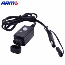New Waterproof power socket usb for motorcycle 12 V USB Power Port SAE Adaptor Outlet Charger with power switch