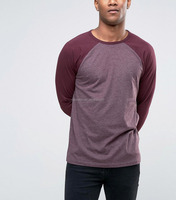 Jersey Knit Long Sleeve T-Shirt With Contrast Raglan Sleeves