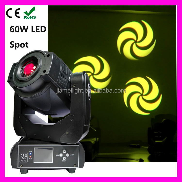 2015 factory price 60w moving head led outdoor gobo projector