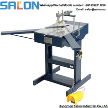 Pneumatic wood picture frame assembling machine