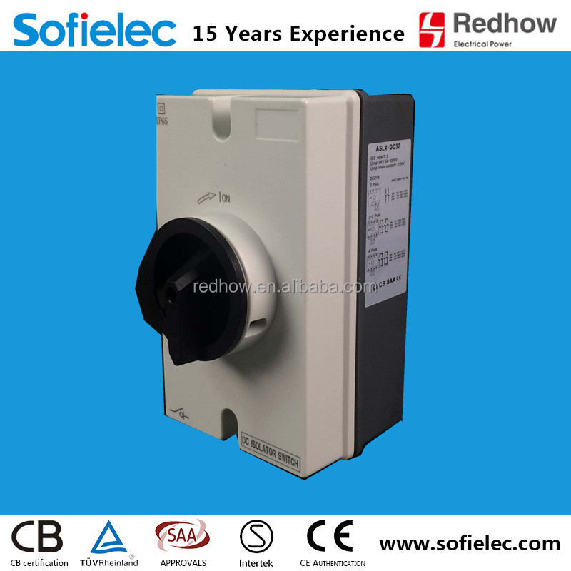 High quality hot sale IP66 disconnector switch pv isolator