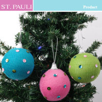 attractive xmas tree hanging foam material knitting christmas ball
