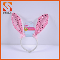 Customized sequins Easter bunny ear headband