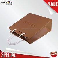 column brown luxury design gift paper shopping ribbon handle special paper bag