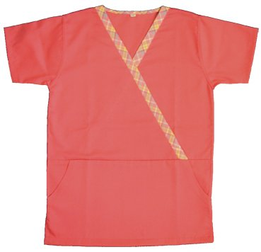Asian Mock Wrap Top Scrub Suit