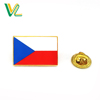 Custom design professional Zinc Alloy Czech Republic Country Flags for Dress Madal Enamel lapel pins Badge