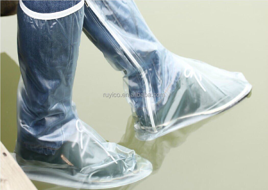men PVC rain boot cover / storm boots / waterproof hunter / wellies
