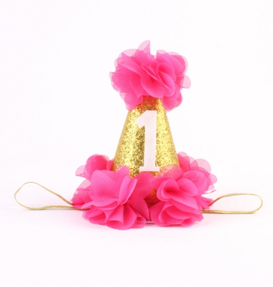 Princess Kids Foam Crowns For Birthday Party headbands- chiffon flower headbands for ladies