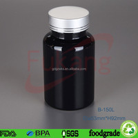 38mm clear plastic jar with metal lid