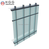 Building materials for doors and windows factory price double-deck tempered insulated glass panels