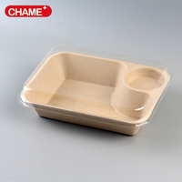Biodegradable sugarcane pulp disposable paper food container