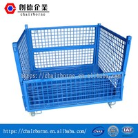Storage recovery Spray paint color optional Stacking steel pallet cage