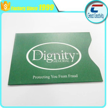 Factory price Safety Sleeves RFID Protectors Credit Card & Identity Theft Protection