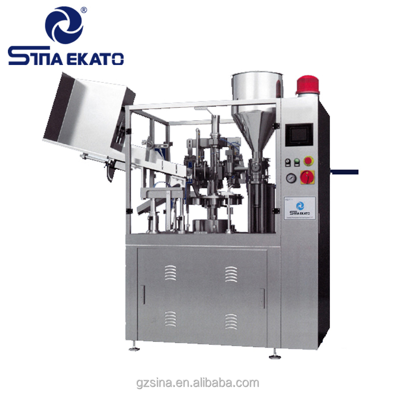 Automatic water cup tube filling and sealing machine for powder /cream/lotion/perfume/lipstick/mousse can