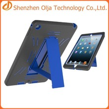 Silicon+pc tablet case for apple ipad 6,for ipad 6 case with standing,for apple ipad air 2 silicon case