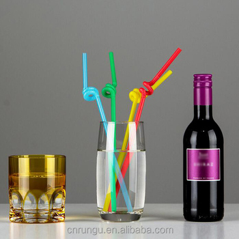 Disposable Flexible Plastic Crazy Straws to Drink