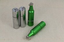 2017 wholesale Customized logo Personalized GREEN beer bottle USB Flash Drive 1GB 2GB 4GB