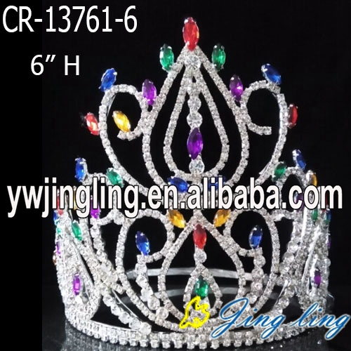 Wholesale custom color rhinestone crowns and tiaras for sale
