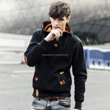 Free Shipping new design long sleeve blank hooded sweatshirt for mens