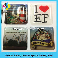 Promotional high quality cheap price custom window cling epoxy sticker