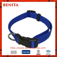 Nylon Webbing Adjustable with Plastic Buckle Dog Collar