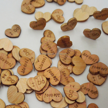 Heart Confetti Wedding Wood Pieces For Crafts