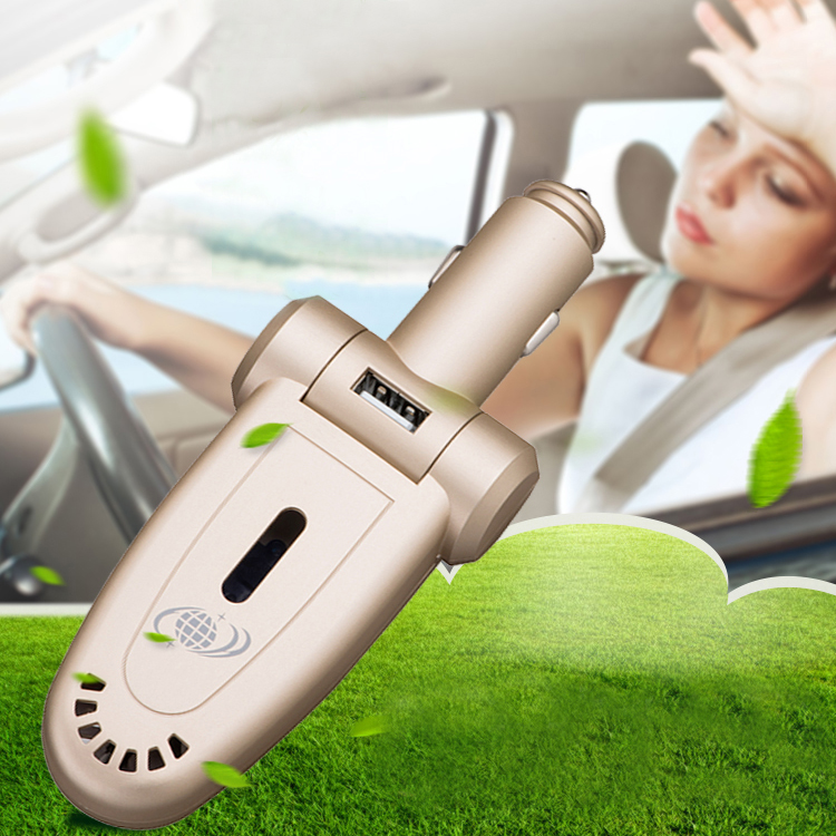 Vehicle GPS tracker, Air Purifier, USB fast charge in one unit