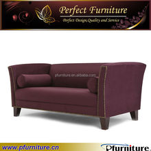 white simply living room purple sofa Luxury Hotel Furniture sofa PFS5833