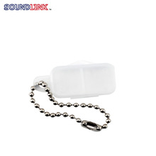 Portable key-ring hearing aid battery carrying case and holder with key chain