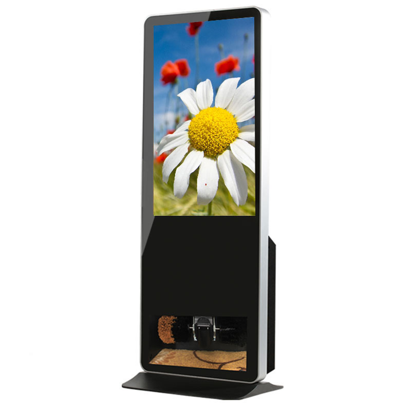 32 inch Wireless Stand Advertising Kiosk Shoe Polisher with Lcd Display