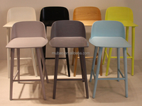 High Quality retro powder Coating with wood top high chair stool bar
