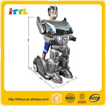 2017 New item Double drive ride on robot,fashion design kids ride on car