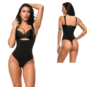 High Quality T-Back Body Shaper Tummy Control Cotton Shapers Women Slimmer Belly Shaper Bodysuit With Lace