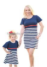 latest design strip maxi dress . mother daughter matching dress ladies clothing women dresses